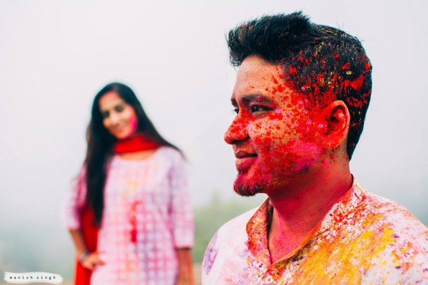 Manish Singh Photography Holi Pre-wedding Bhubaneswar