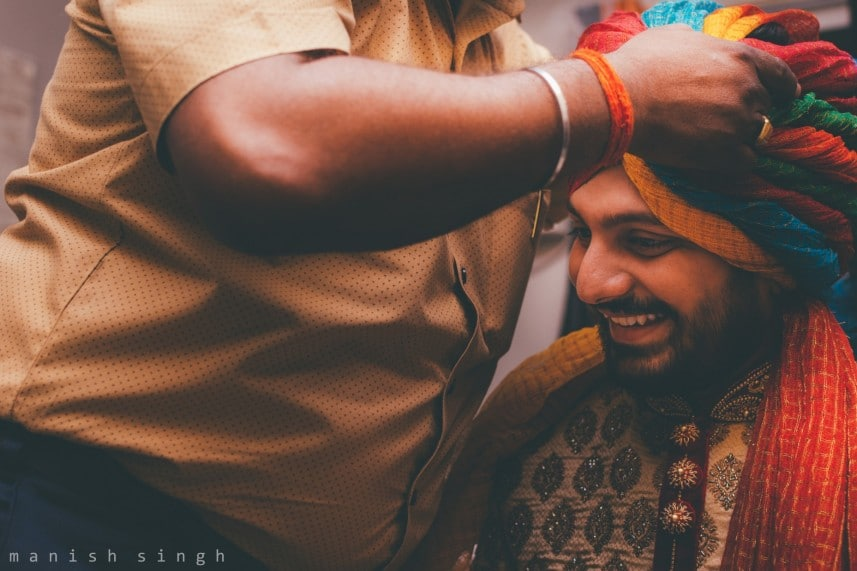Manish Singh Photography Groom getting ready