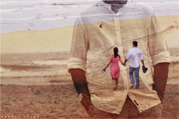 Manish Singh Photography Pre-wedding Beach double-exposure Odisha