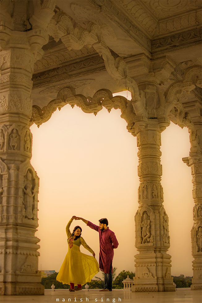 Manish Singh Photography Pre-wedding swirl