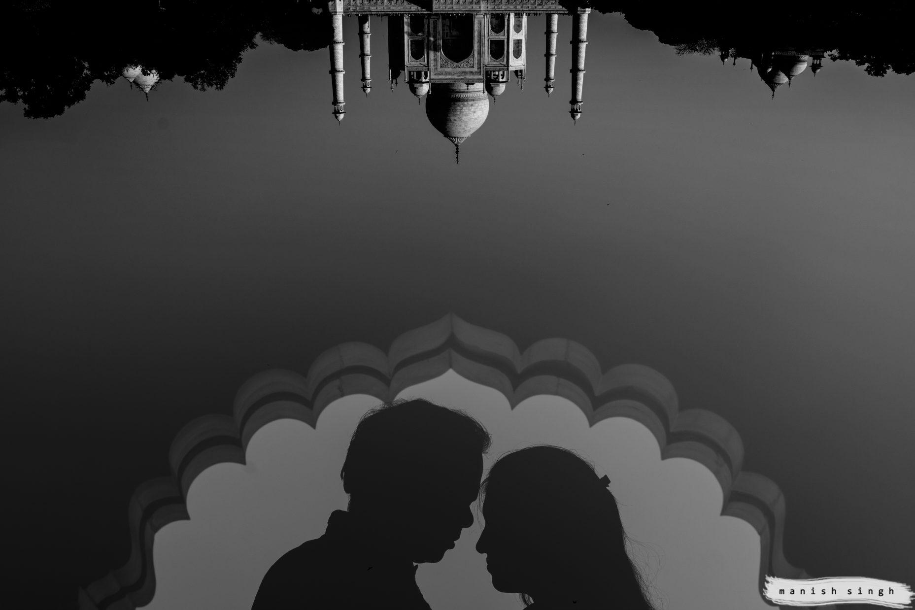 Pre wedding photography Taj Mahal