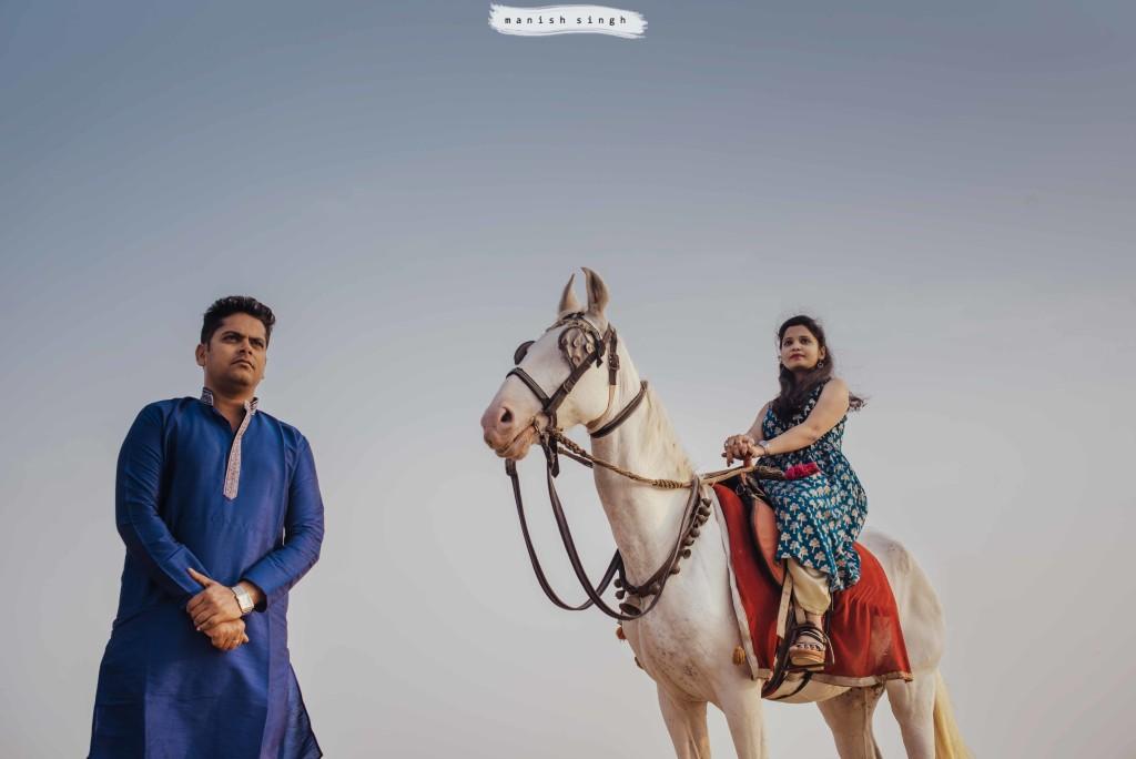 Pre wedding Bhubaneswar puri with horse