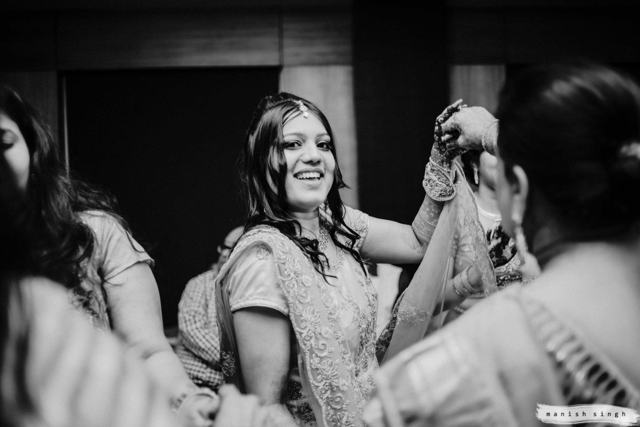 Bride dancing in Odisha wedding sangeet