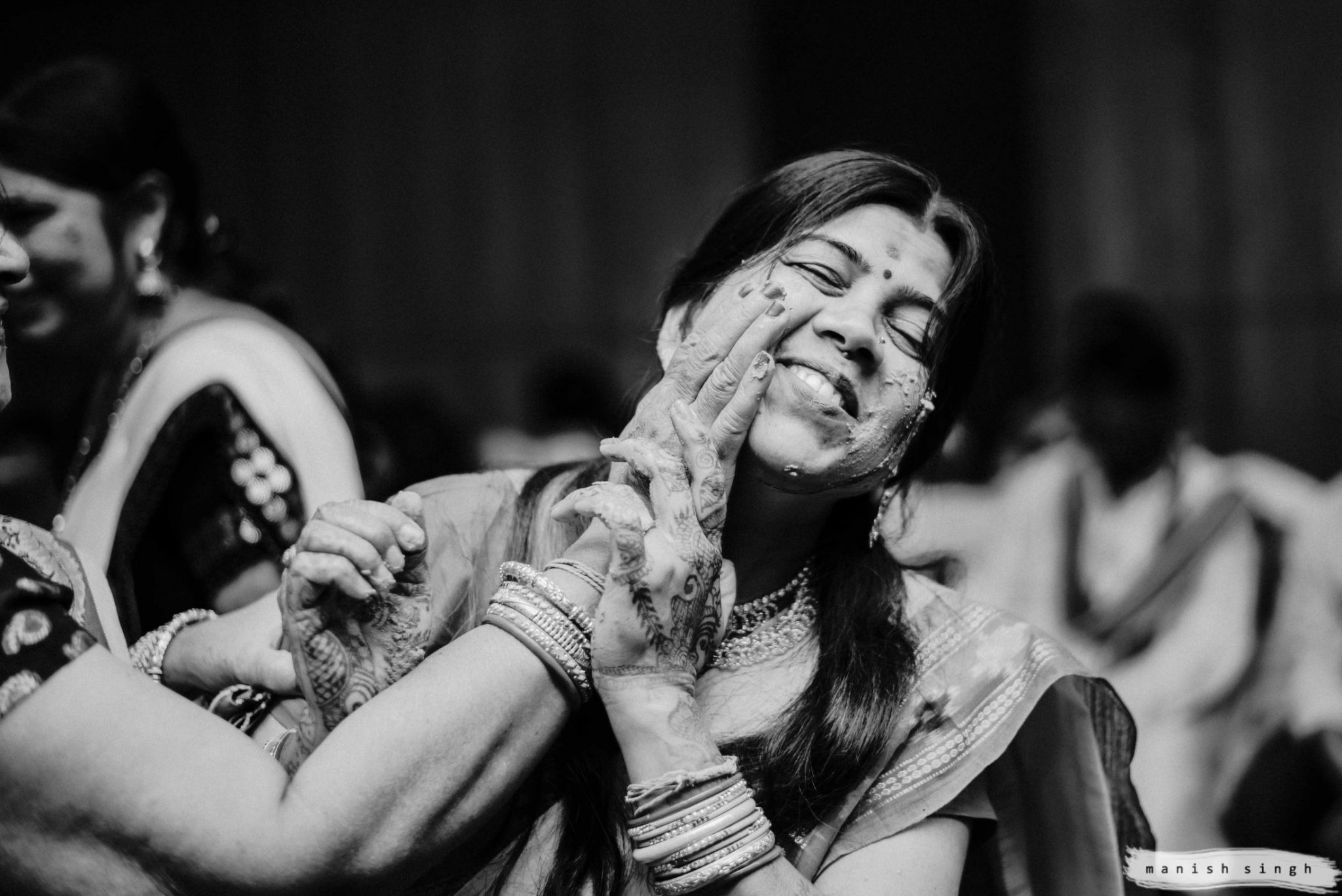 Haldi Ritual playful moments