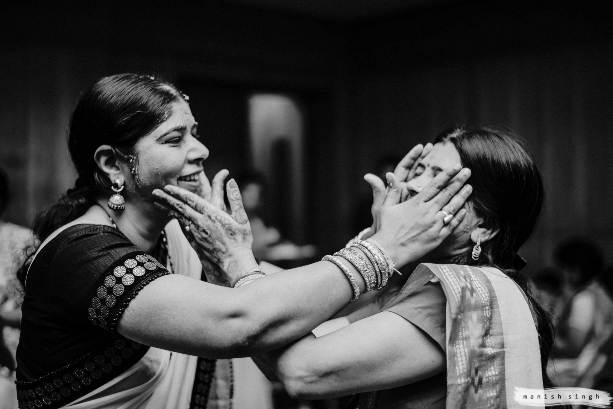 Haldi Ritual playful moments