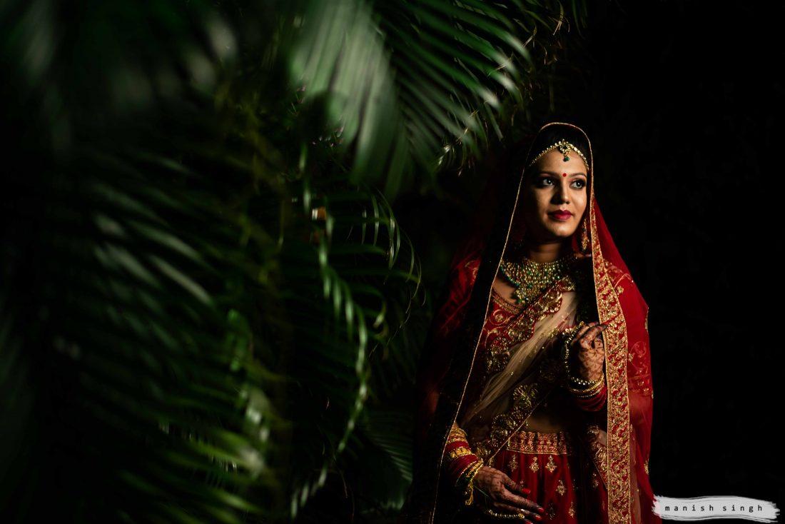 Beautiful Odisha wedding Bridal portrait at hotel la franklin Bhubaneswar
