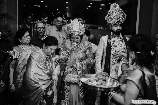 Vidaai moment during hindu wedding Bhubaneswar
