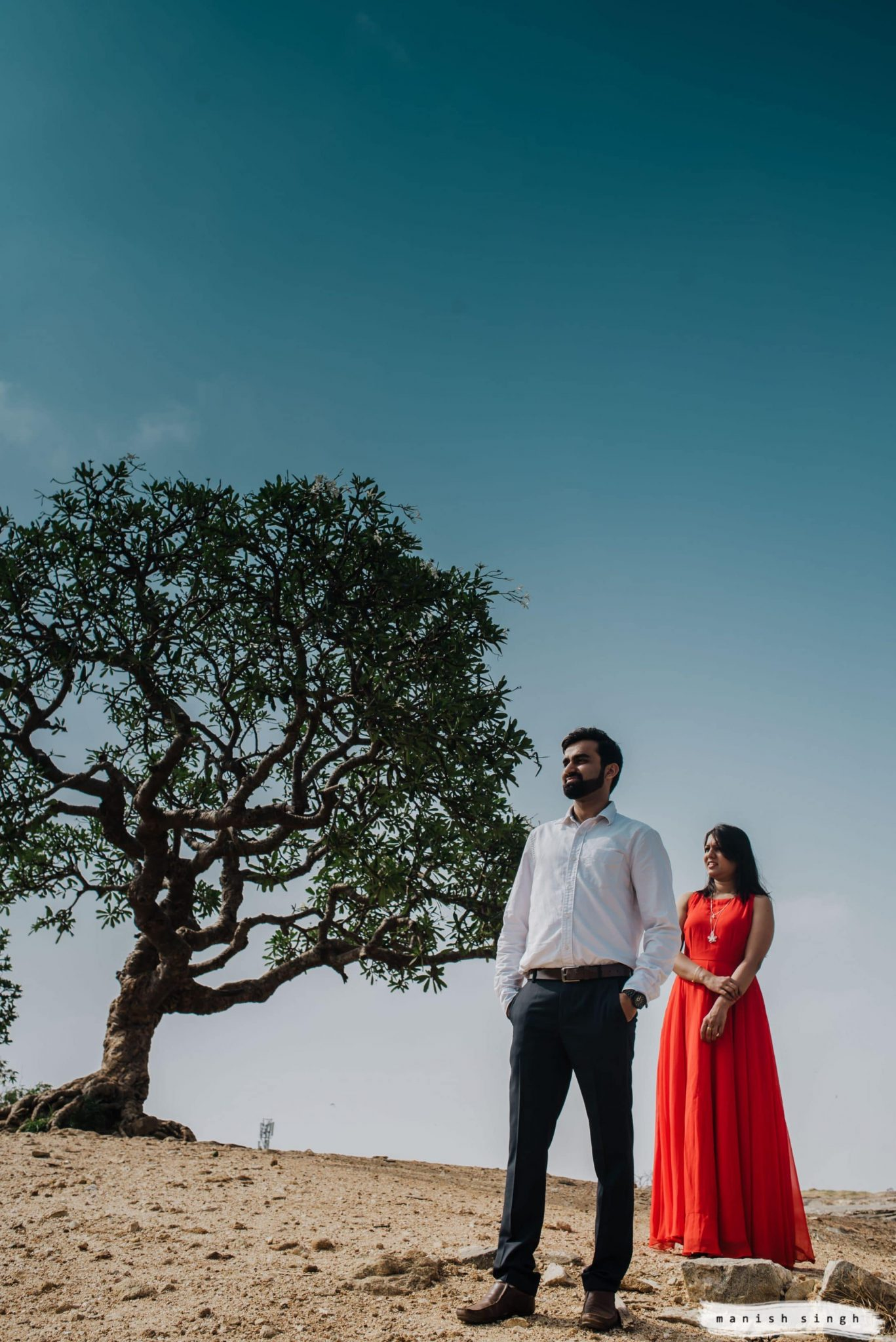 couple scenery photo with tree and sky bangalore Lalbagh