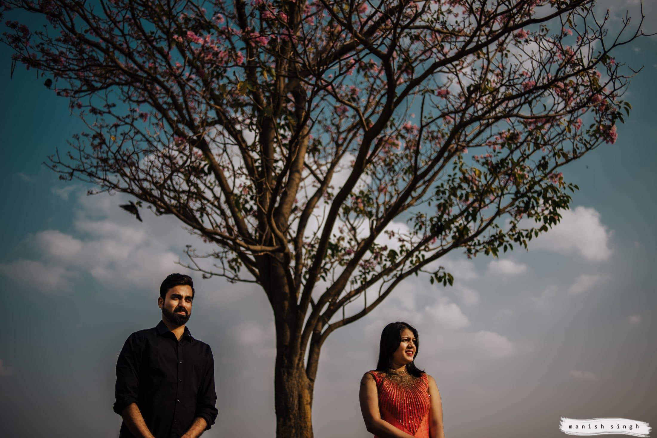 couple scenery photo with tree and sky bangalore
