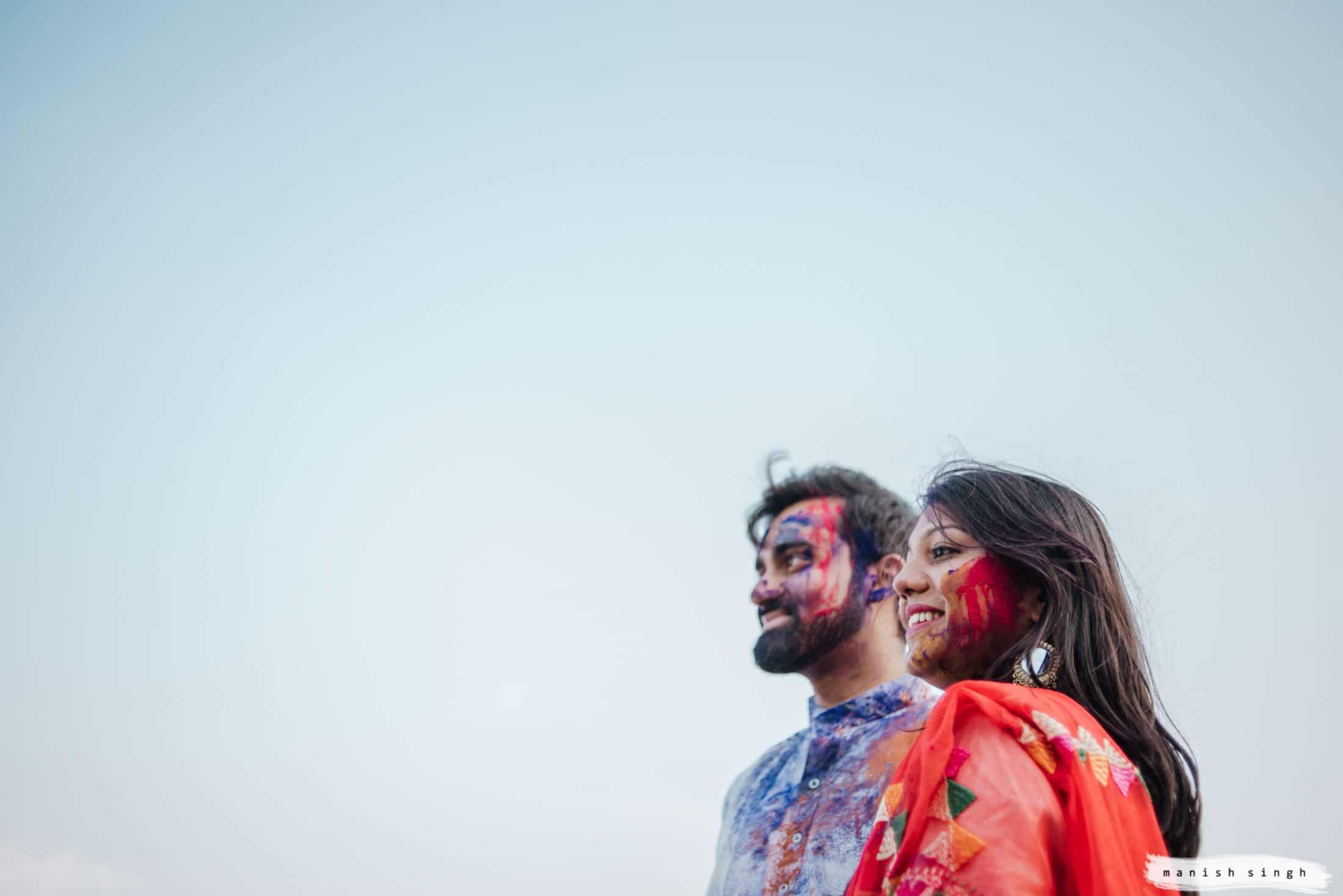 Pre wedding Photoshoot with holi colors in Bhubaneswar