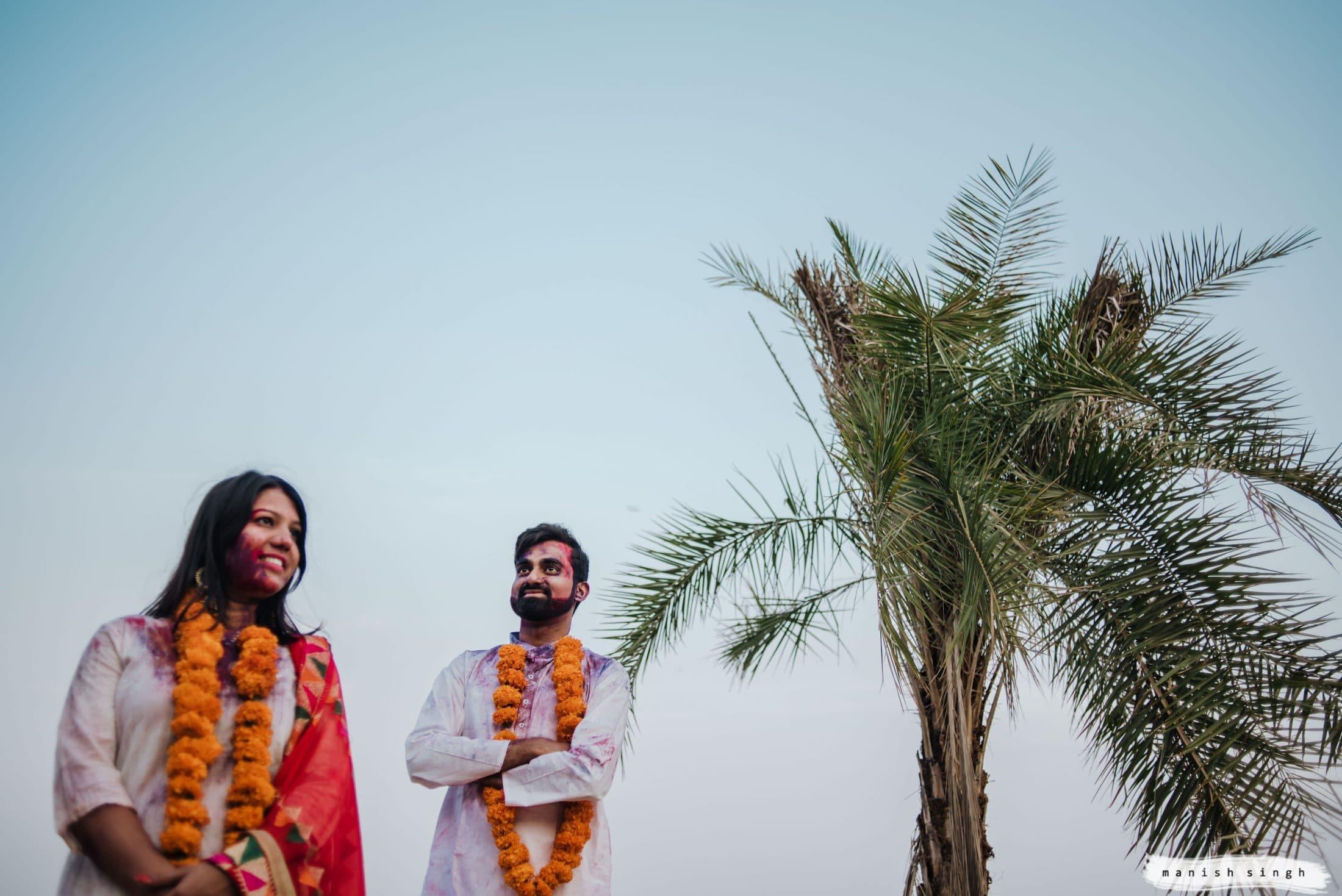 Pre wedding Photoshoot with holi colors Bangalore