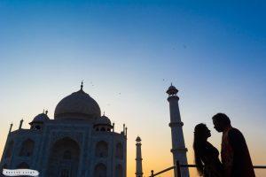 Pre wedding photoshoot Taj Mahal evening