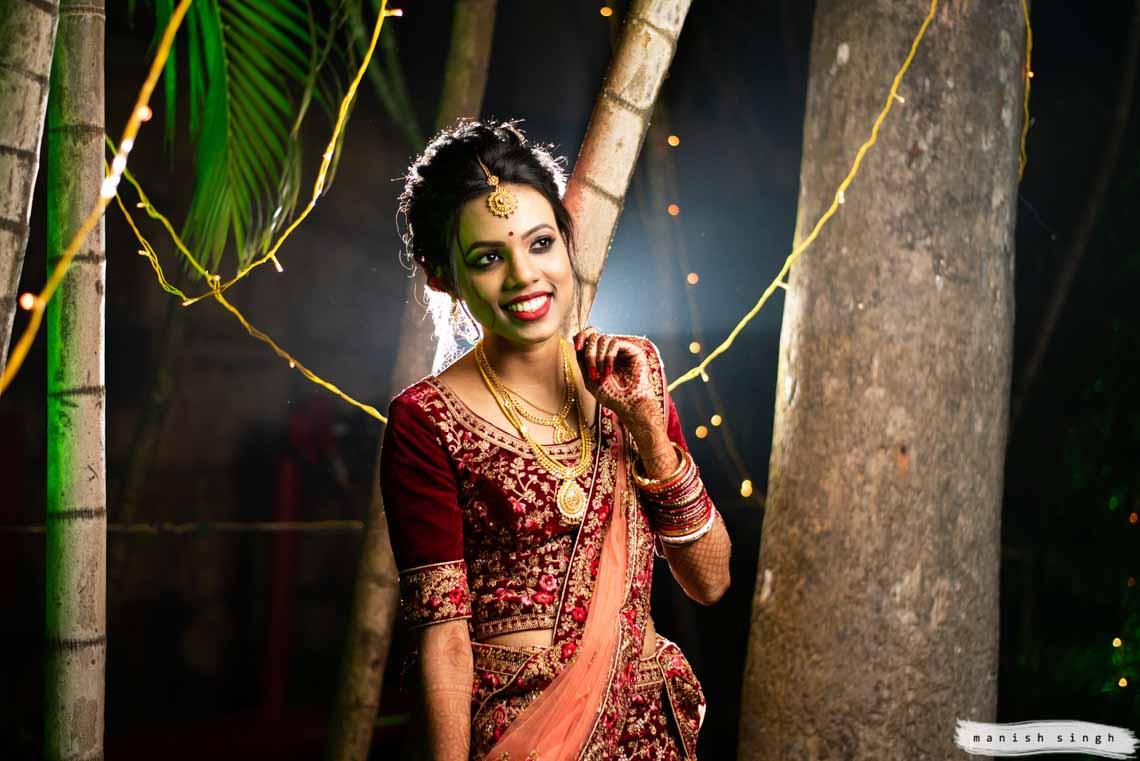 backlit bridal portrait at hotel new marrion bhubaneswar